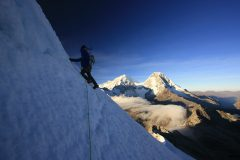 Photo: Student Anthony Gaugliano leading the summit pitches on Yana